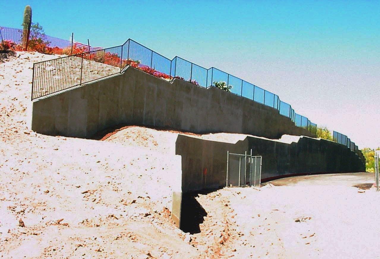 6000 Campbell Retaining Walls, Tucson, Arizona